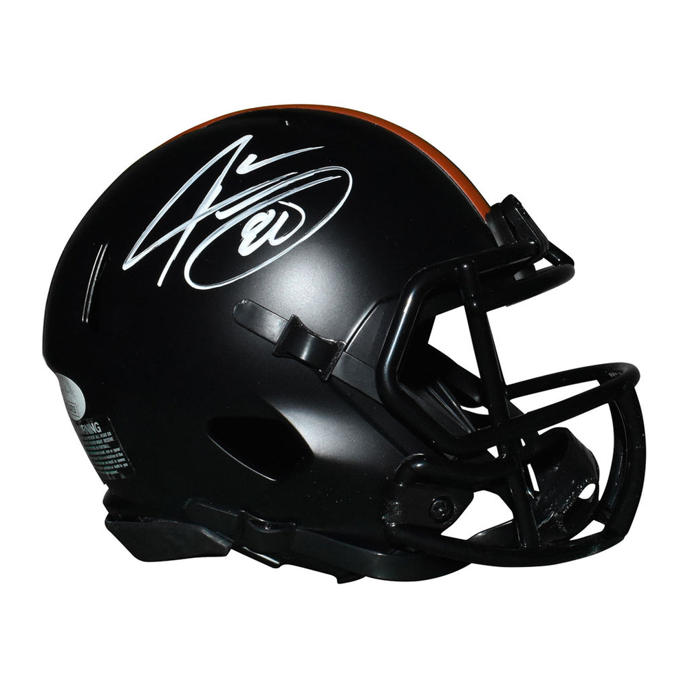 Jarvis Landry Signed Cleveland Browns Eclipse Speed Mini Replica Football Helmet (JSA)
