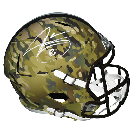 Jarvis Landry Signed Cleveland Browns Speed Full-Size Replica Camo Football Helmet (JSA)