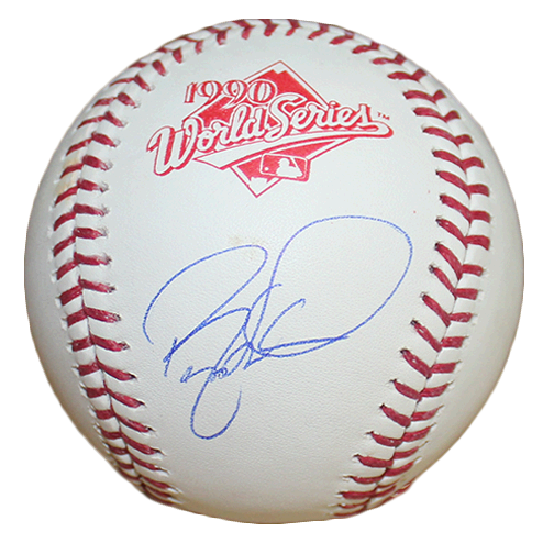 Barry Larkin Autographed 1990 World Series Official Major League Baseball (JSA)