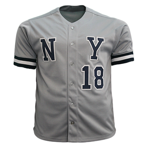 Don Larsen Autographed New York Baseball Jersey Grey (JSA COA)