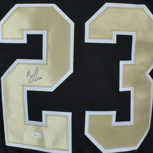Marshon Lattimore Signed Pro-Edition Black Football Jersey (JSA)