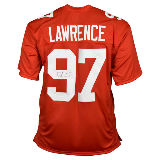 Dexter Lawrence Signed New York Pro Red Football Jersey (JSA)