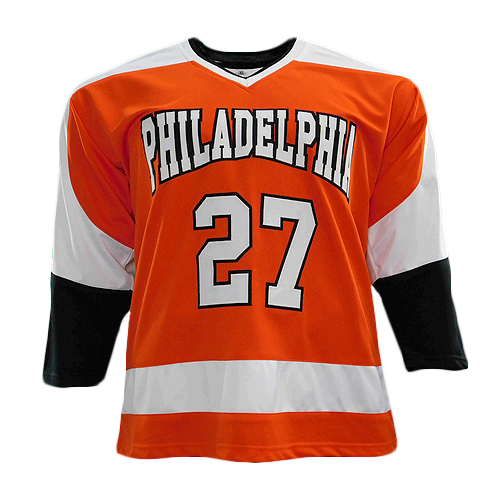 Reggie Leach Signed Pro Edition Philadelphia Hockey Jersey Orange (JSA)