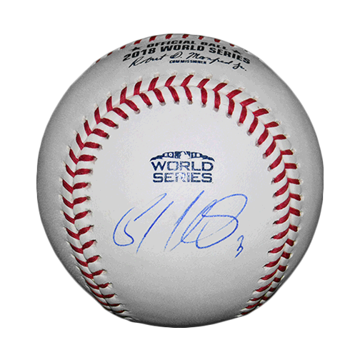 Sandy Leon Autographed 2018 World Series Official Major League Baseball JSA