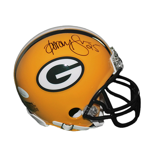 Dorsey Levens Autographed Green Bay Packers Football Mini Helmet (JSA)