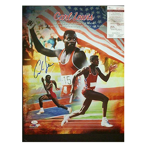 Carl Lewis Autographed 16 x 20 Olympic Collage Photo (JSA)