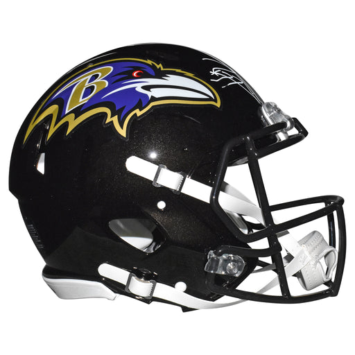 Ray Lewis Signed Baltimore Ravens Authentic Speed Full-Size Black Football Helmet (JSA)