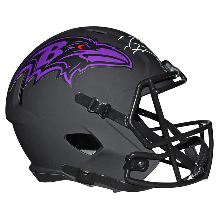 Ray Lewis Signed Baltimore Ravens Eclipse Speed Full-Size Replica Football Helmet (JSA)