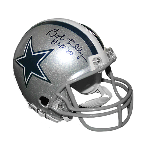 Bob Lilly Dallas Cowboys '80 Hall of Fame Mini Helmet (JSA-Certified)