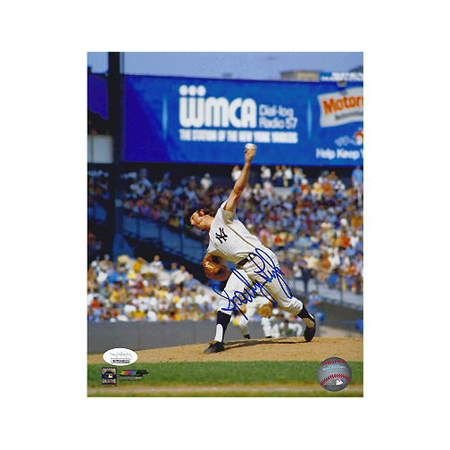 Sparky Lyle Autographed New York Yankees Baseball 8x10 Photo POSE 1 (JSA)