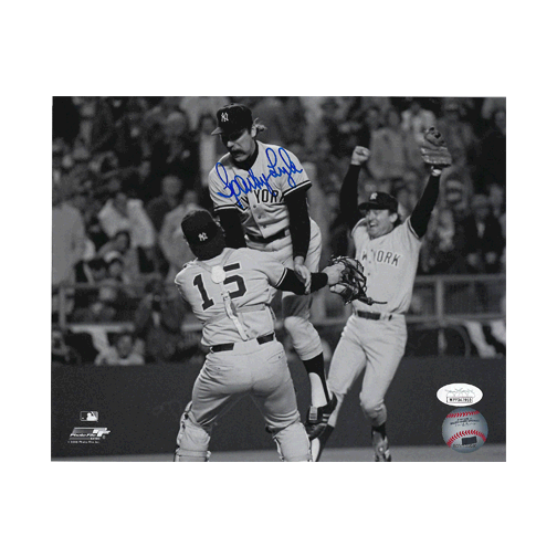 Sparky Lyle Autographed New York Yankees Baseball Photo POSE 2 (JSA)