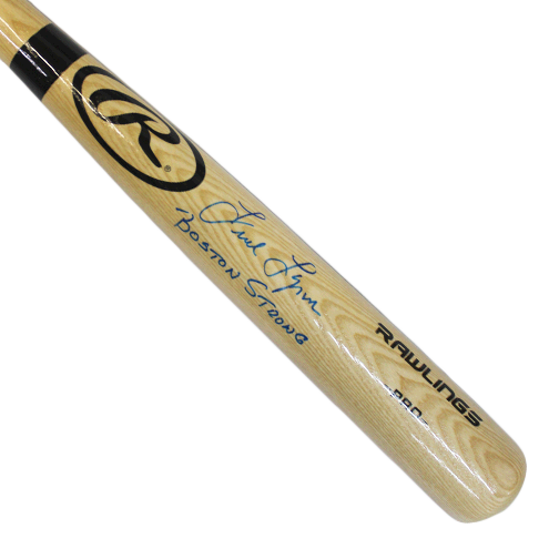 "Fred Lynn Autographed Full Size Rawlings Baseball Bat Blonde (JSA) with Rare Inscription ""Boston Strong"""