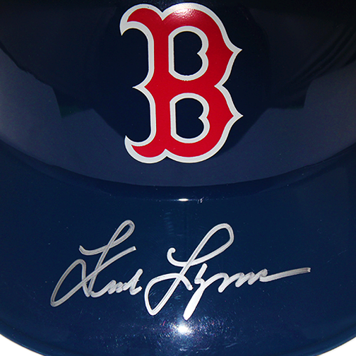 Fred Lynn Boston Red Sox Autographed Souvenir Full Size Baseball Batting Helmet (JSA COA)