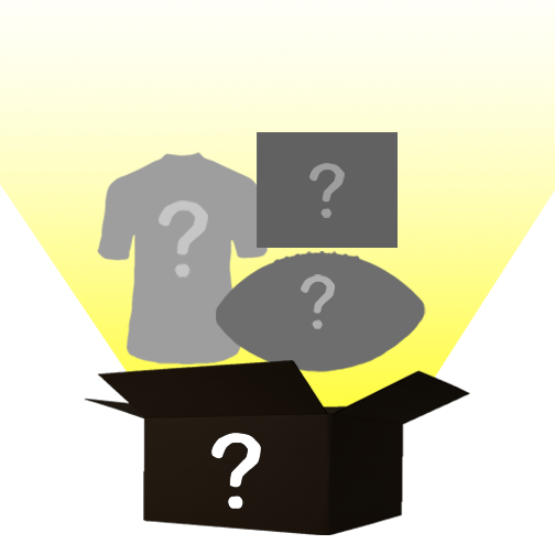 Mystery Autograph Combo Box: Custom Jersey, Photo, and Logo Football