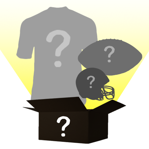 Mystery Autograph Combo Football Box: Custom Jersey, Mini Helmet, and Logo Football