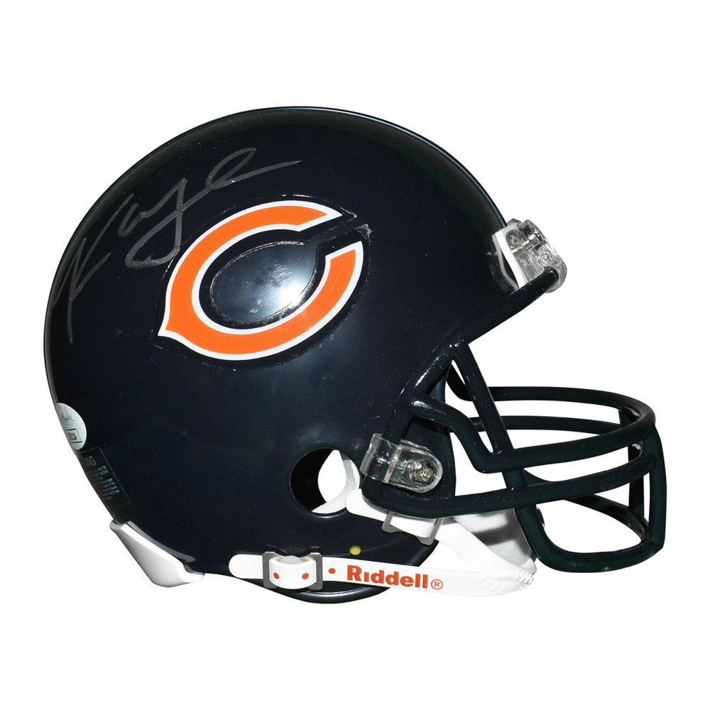 Khalil Mack Signed Chicago Bears Mini Replica Blue Football Helmet (JSA)
