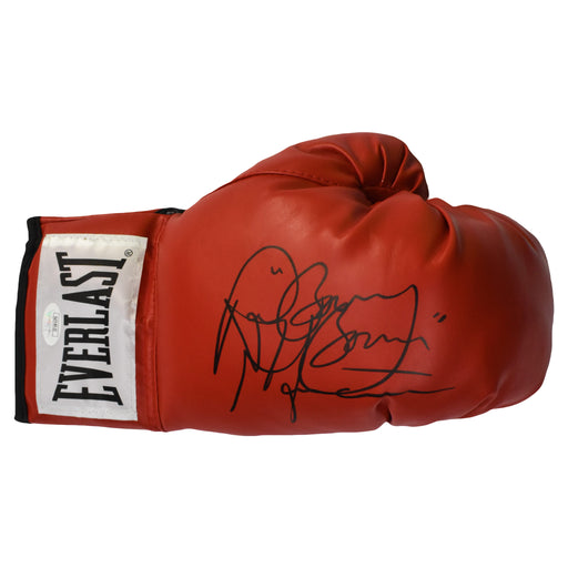 "Ray ""Boom Boom"" Mancini Autographed Boxing Glove Red (JSA)"