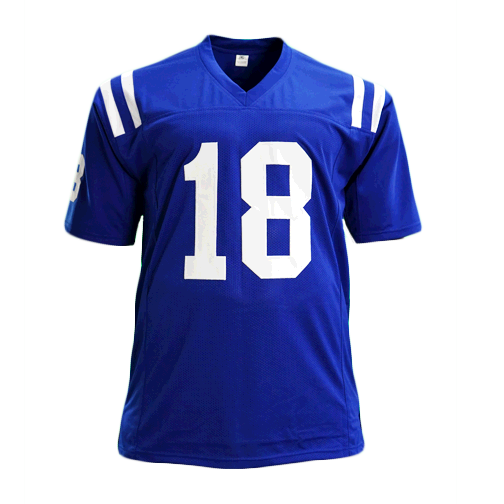 Peyton Manning Signed Blue Pro Edition Football Jersey (JSA)