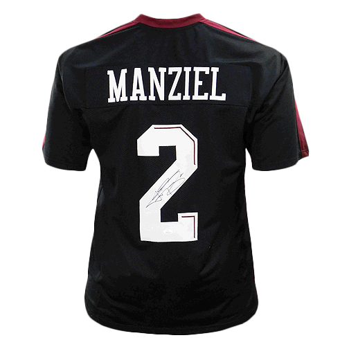 Johnny Manziel Signed Black College-Edition Jersey (JSA)