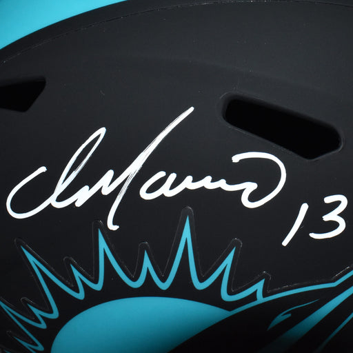 Dan Marino Signed Miami Dolphins Full-Size Black Eclipse Speed Replica Football Helmet (JSA)