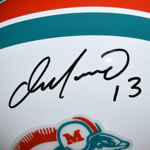 Dan Marino Signed Miami Dolphins Full-Size Replica Throwback Football Helmet (JSA)