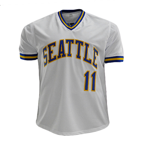 "Edgar Martinez Signed ""HOF-19"" Seattle White Baseball Jersey (JSA)"