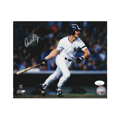 Don Mattingly Autographed New York Yankees Baseball Photo POSE 4 (JSA)