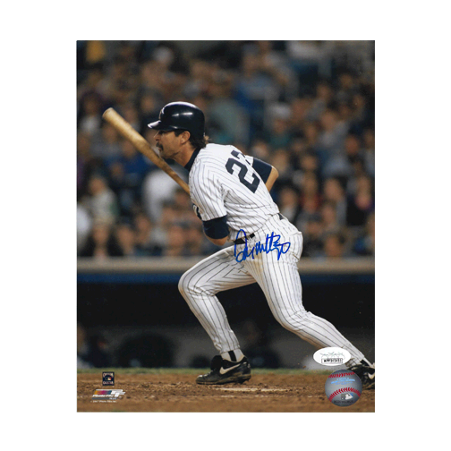 Don Mattingly Autographed New York Yankees Baseball Photo POSE 3 (JSA)
