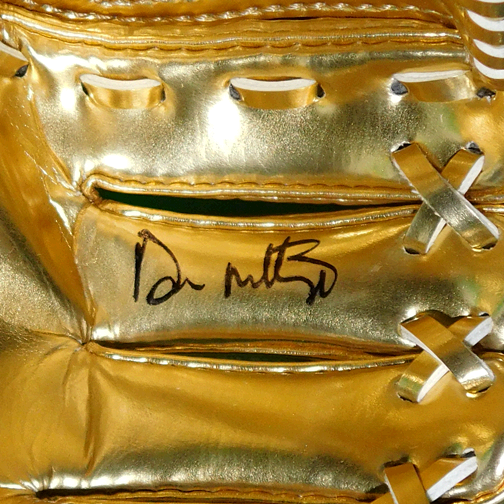 Don Mattingly Signed Rawlings Mini Gold Glove (JSA)