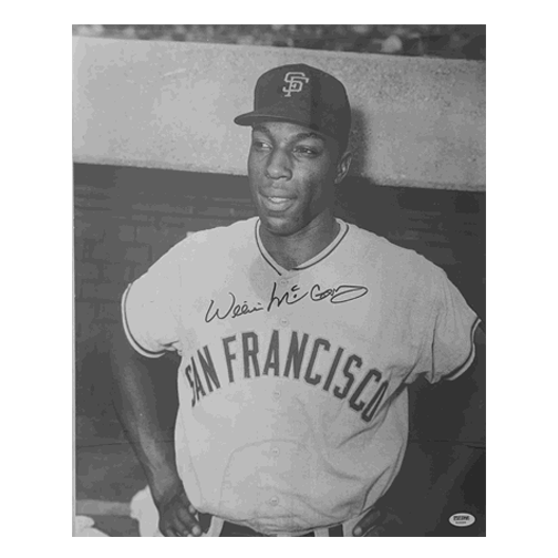 Willie McCovey Autographed Vintage Giants 16 x 20 Baseball Photograph (PSA) Authenticated