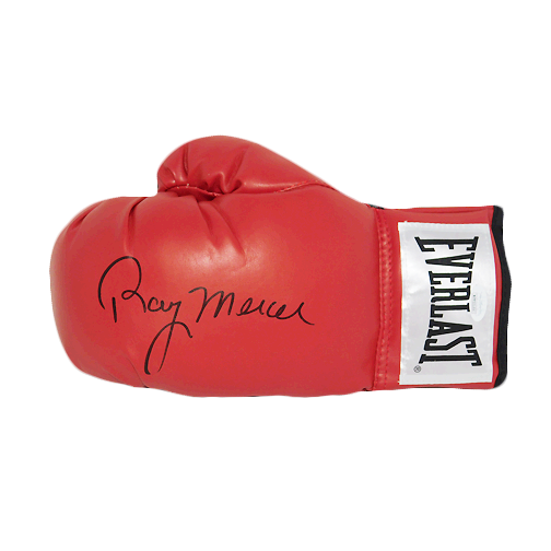 Ray Mercer Autographed Red Boxing Glove (JSA)