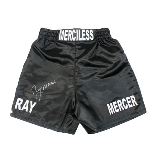 Ray Mercer Autographed Boxing Trunks Black JSA Authenticated MISC