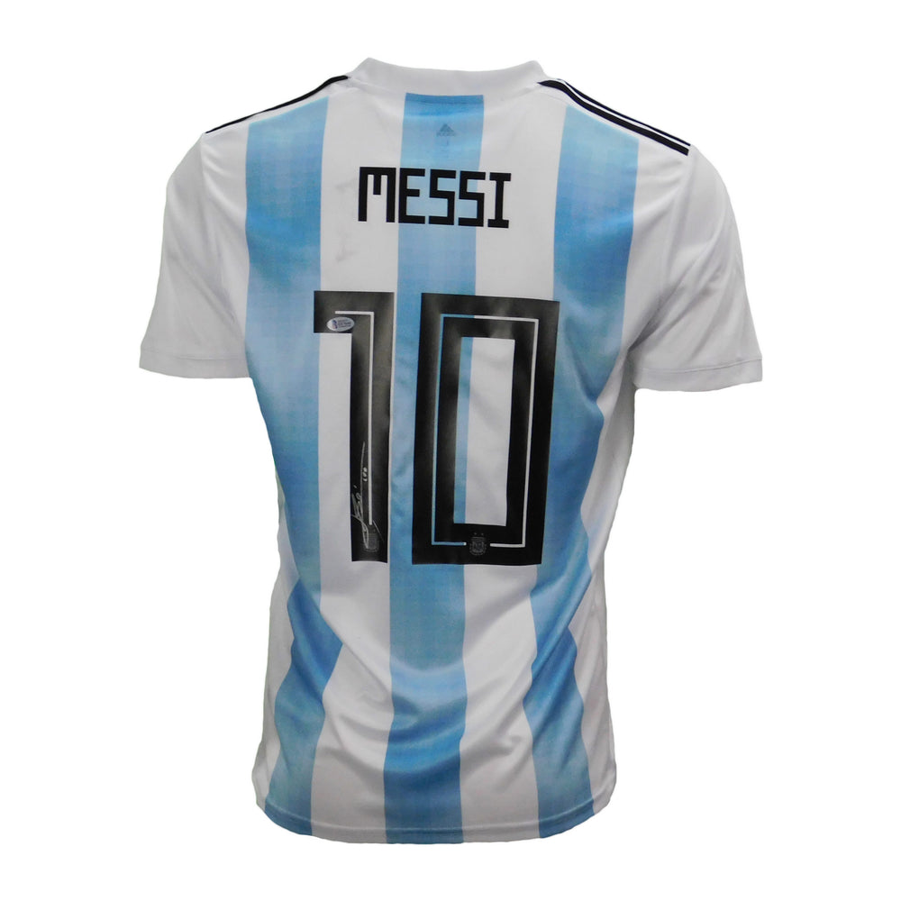 Lionel Messi Signed Argentina AFA White Jersey (Beckett)