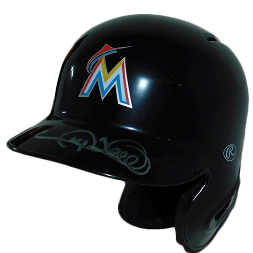 Gary Sheffield Autographed Marlins Mini Baseball Helmet (JSA COA)