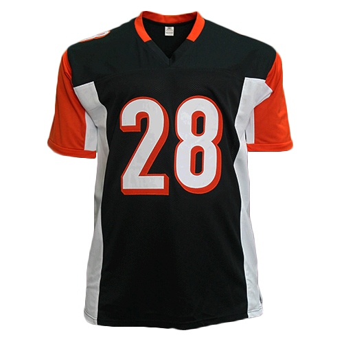 Joe Mixon Bengals Autographed Football Jersey Black (JSA)