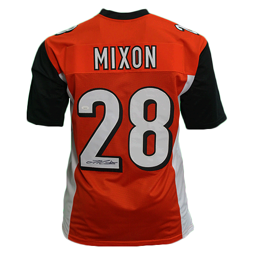 Joe Mixon Pro Style Autographed Football Jersey Orange (JSA)