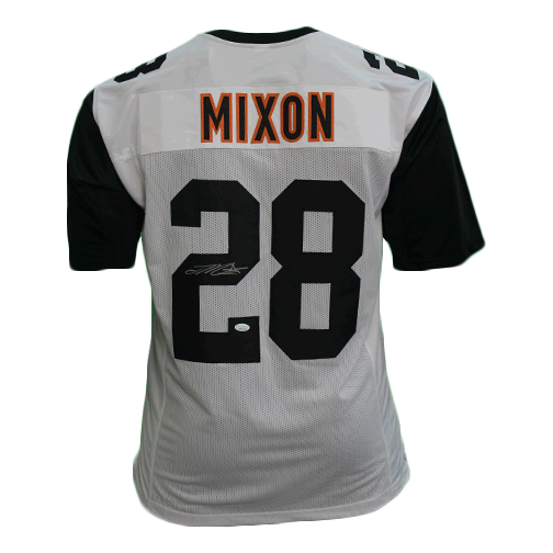 Joe Mixon Pro Style Autographed Football Jersey White/Black (JSA COA)