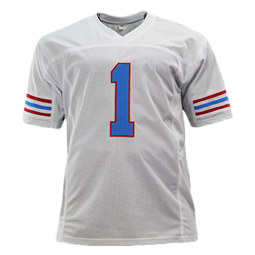 Warren Moon Signed HOF 06 Inscription White Pro-Edition Jersey (JSA)