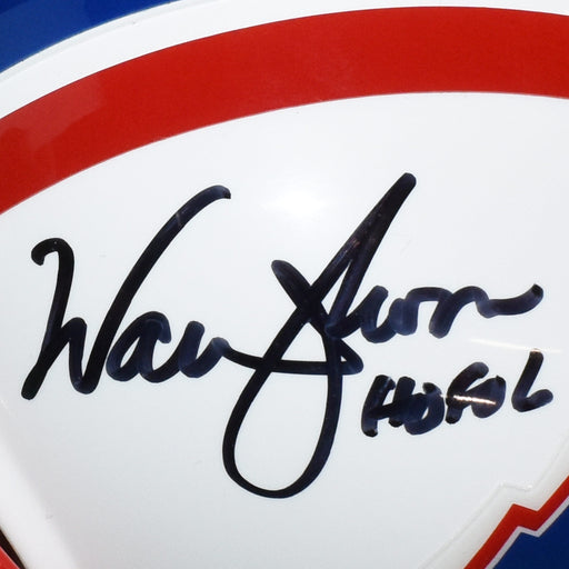 Warren Moon Signed HOF 06 Houston Oilers Mini Football Helmet (JSA)