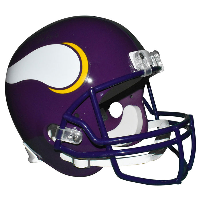 Warren Moon Signed HOF 06 Inscription Minnesota Vikings Full-Size Replica Purple Football Helmet (JSA)