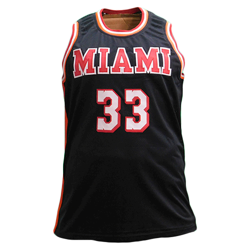 Alonzo Mourning Autographed Miami Basketball Jersey Black (JSA)
