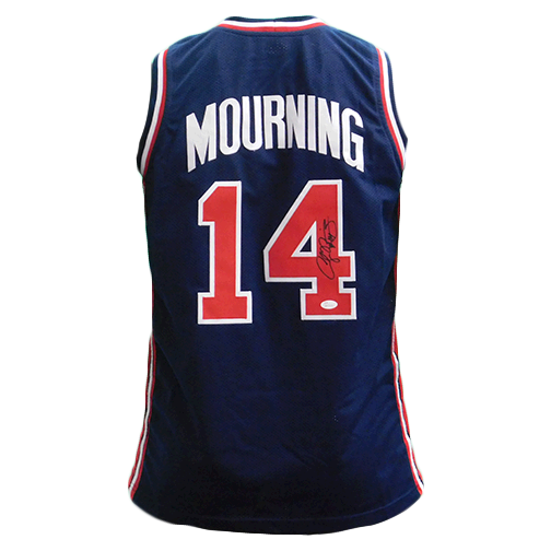 Alonzo Mourning Autographed USA Basketball Jersey (JSA)