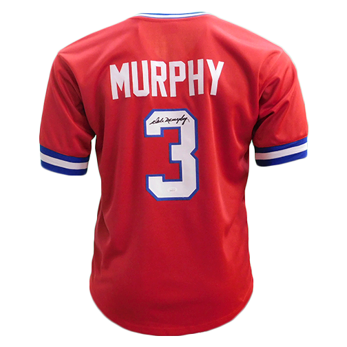 Dale Murphy Autographed Throwback Atlanta Red Jersey (PSA)