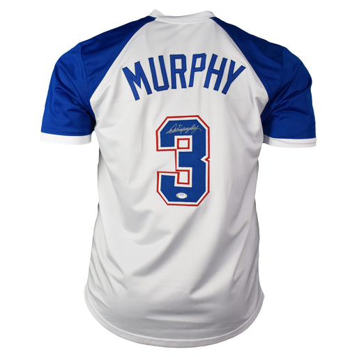 Dale Murphy Signed Atlanta White Baseball Throwback Jersey (PSA)