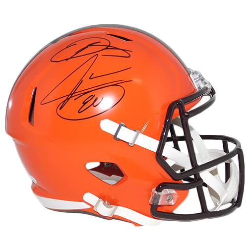 Odell Beckham Jr And Jarvis Landry Dual Signature Cleveland Browns Full Size Replica Speed Football Helmet! JSA COA!