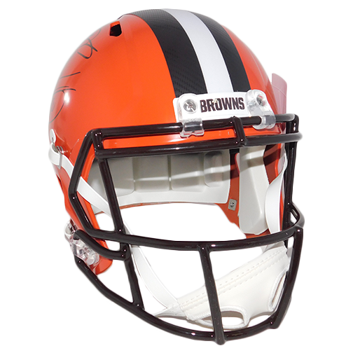 Odell Beckham Jr And Jarvis Landry Dual Signature Cleveland Browns Full Size Replica Speed Football Helmet! (JSA)