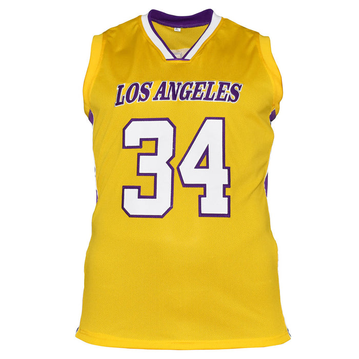 Shaquille O'Neal Signed Los Angeles Pro Yellow Basketball Jersey (JSA)