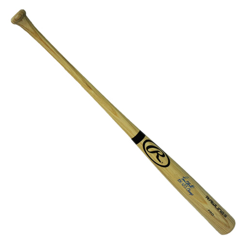 Paul ONeill Signed 5x World Series Champs Inscription Rawlings Pro Blonde Bat (JSA)