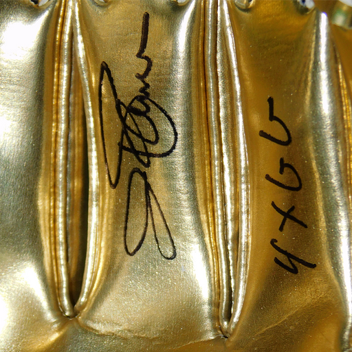 Jim Palmer Signed 4xGG Inscription Rawlings Mini Gold Glove Award (JSA)