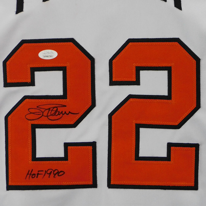 Jim Palmer Signed HOF 90 Inscription Baltimore White Jersey (JSA)